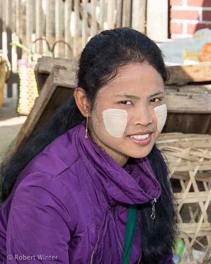 Shan girl at market - near Inle Lake