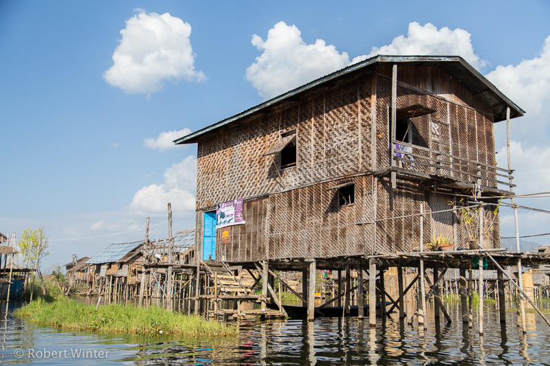 Inle Lake village building