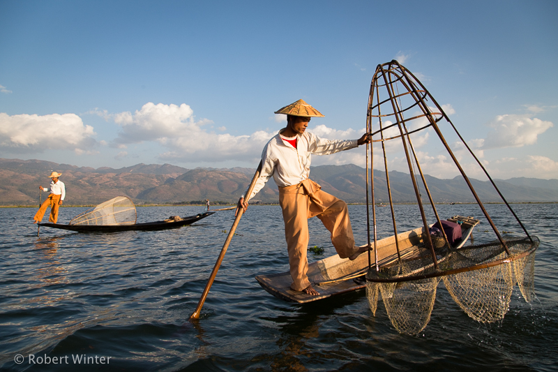 Inle Lake - traditional net